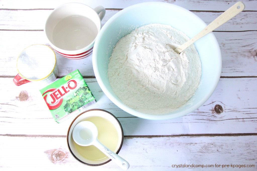 how to make play dough using jello
