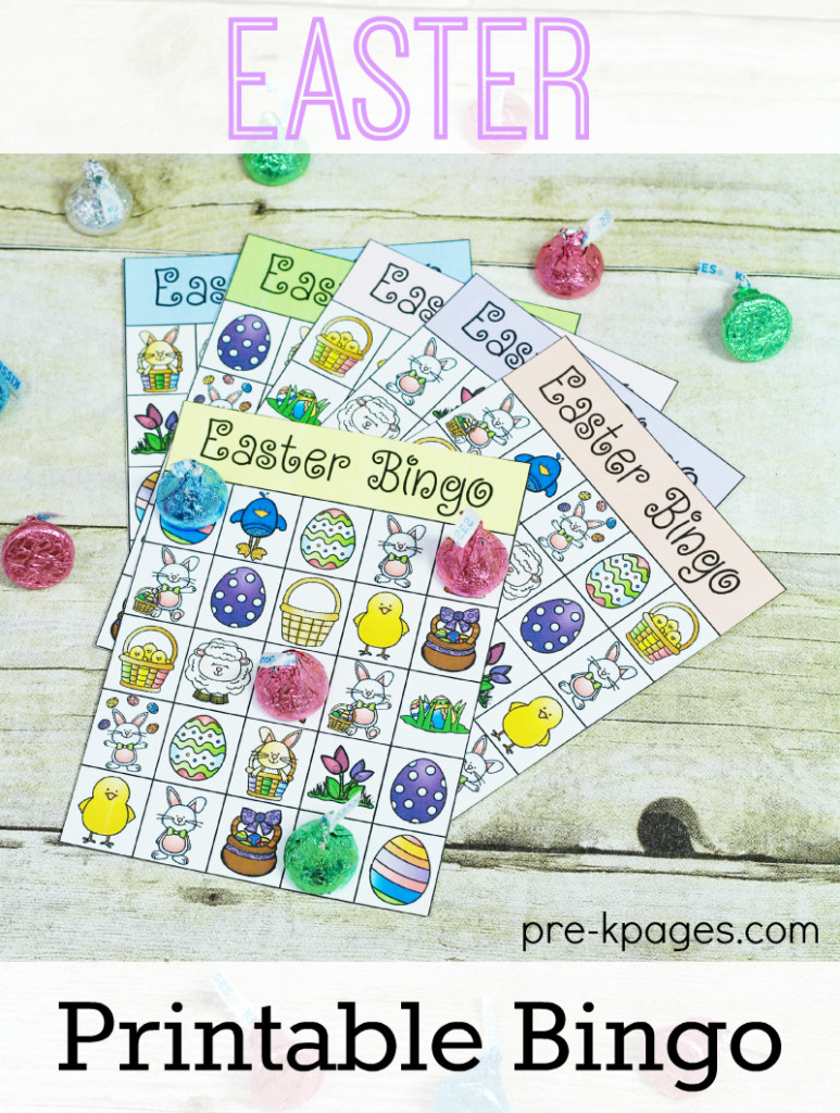 Printable Easter Bingo Game for Preschool