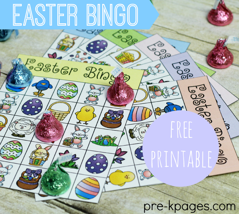 Easter Bingo Game for Preschool