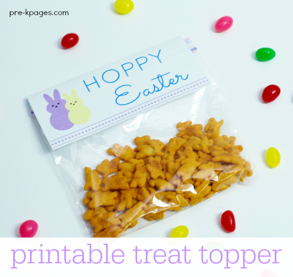 Easter party peeps treat printable easter treat bag topper negle Image collections