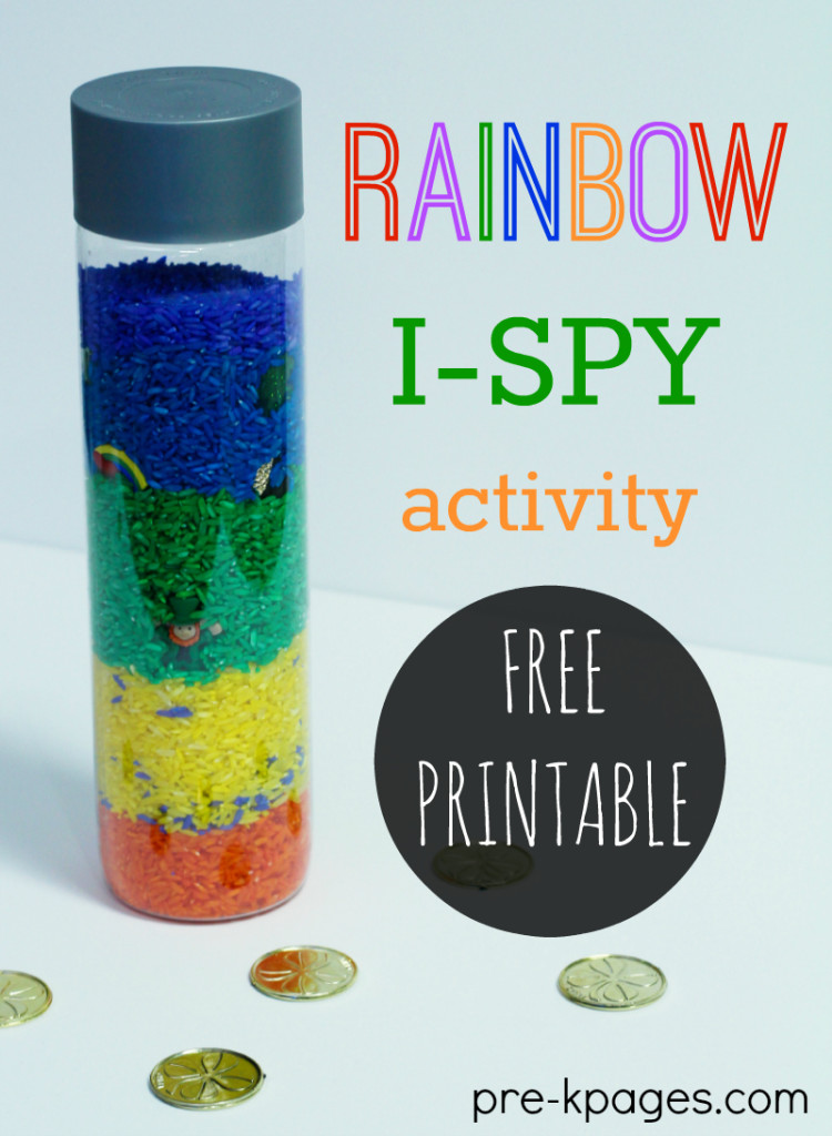 Rainbow I Spy Discovery Bottle