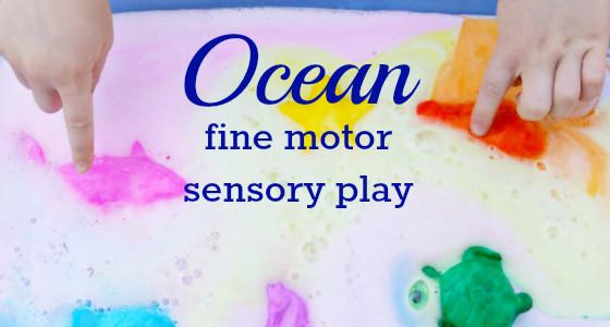Ocean Fine Motor Play preschool