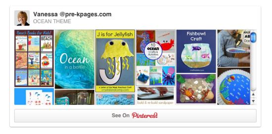 Ocean Theme Pinterest Board