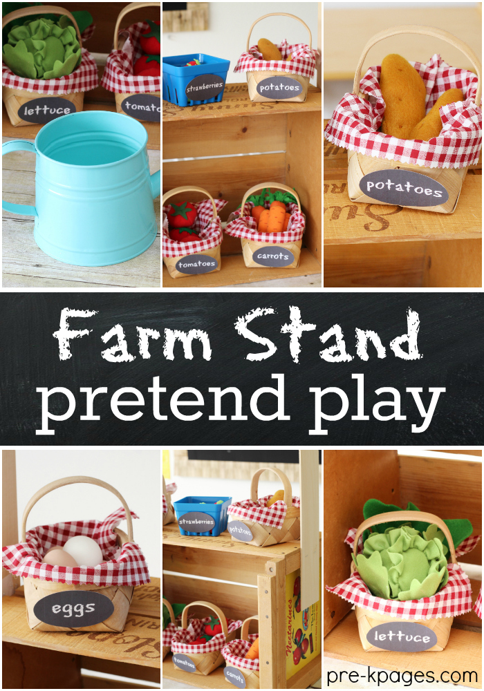 Farm Stand Pretend Play