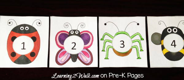 insect counting activity cards