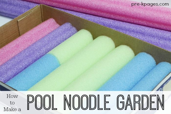 How to Make a Pool Noodle Garden  for Pretend Play
