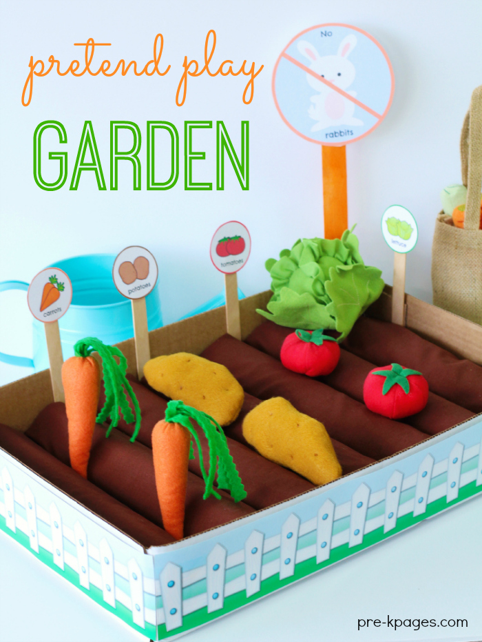 Pretend Play Vegetable Garden