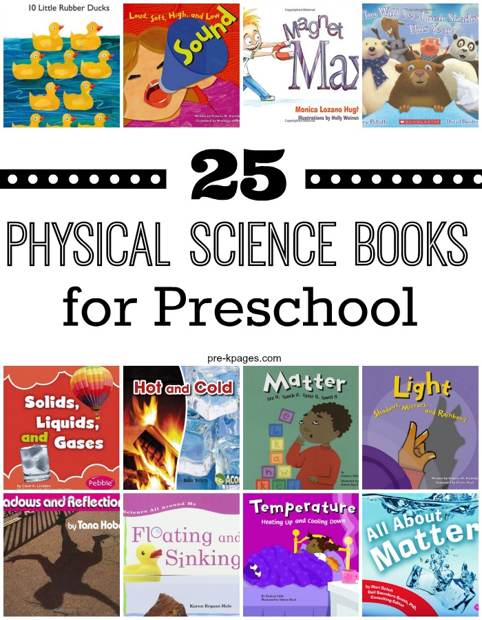 25 Physical Science Books for Preschool
