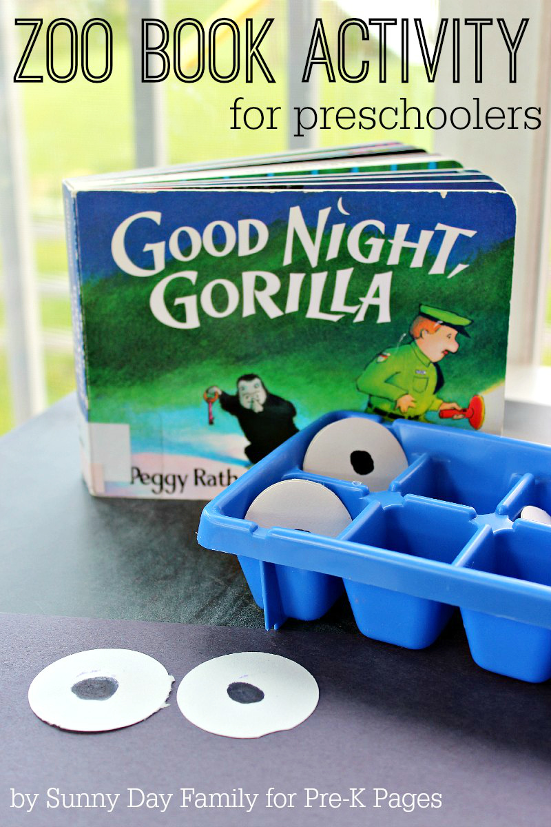Zoo Book Activity Matching Eyes