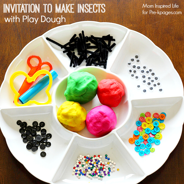 Invitation to Make Insects with Play Dough