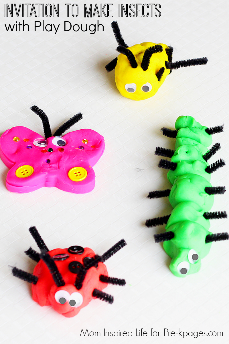 Make Insects with Play Dough