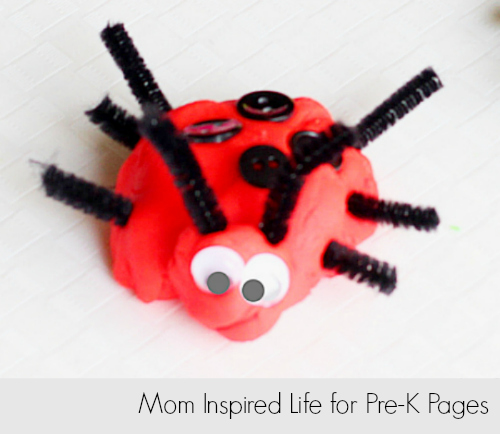 Play dough insect made by preschoolers