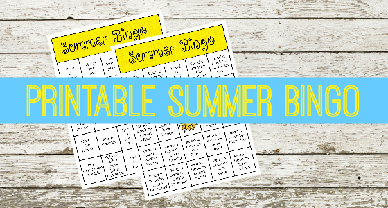 Summer Reading and Activity Bingo
