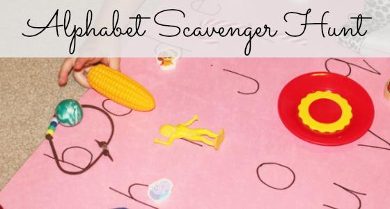 Alphabet Mystery: Alphabet Scavenger Hunt