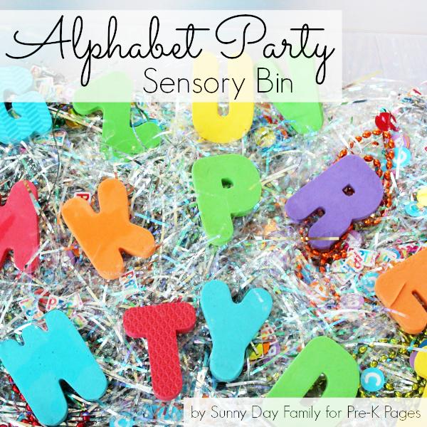 Alphabet Adventure party sensory bin