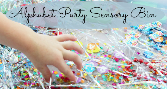 Alphabet Adventure: Alphabet Party Sensory Bin