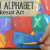 alphabet sticker resist art
