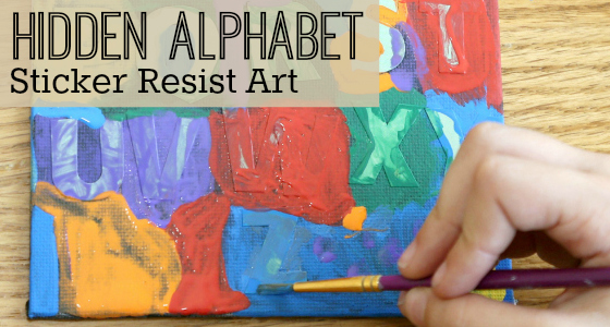 The Hidden Alphabet: Sticker Resist Art