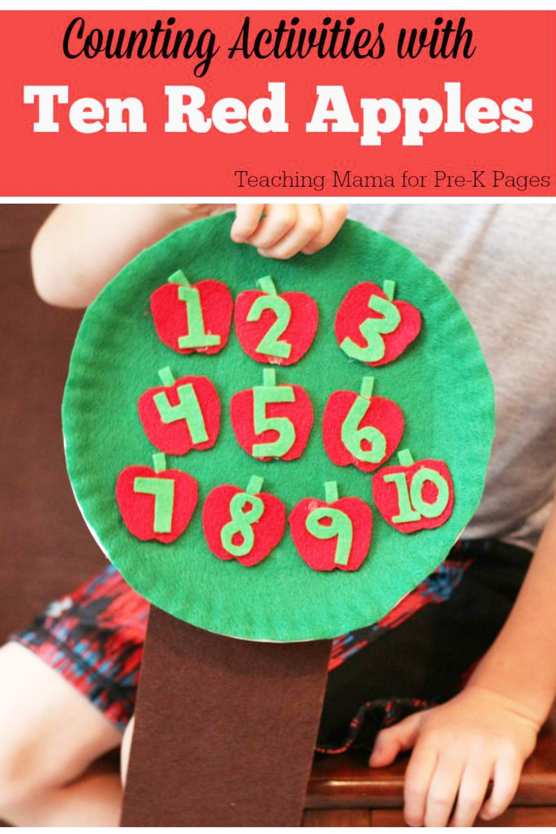 Counting Activities with 10 Red Apples
