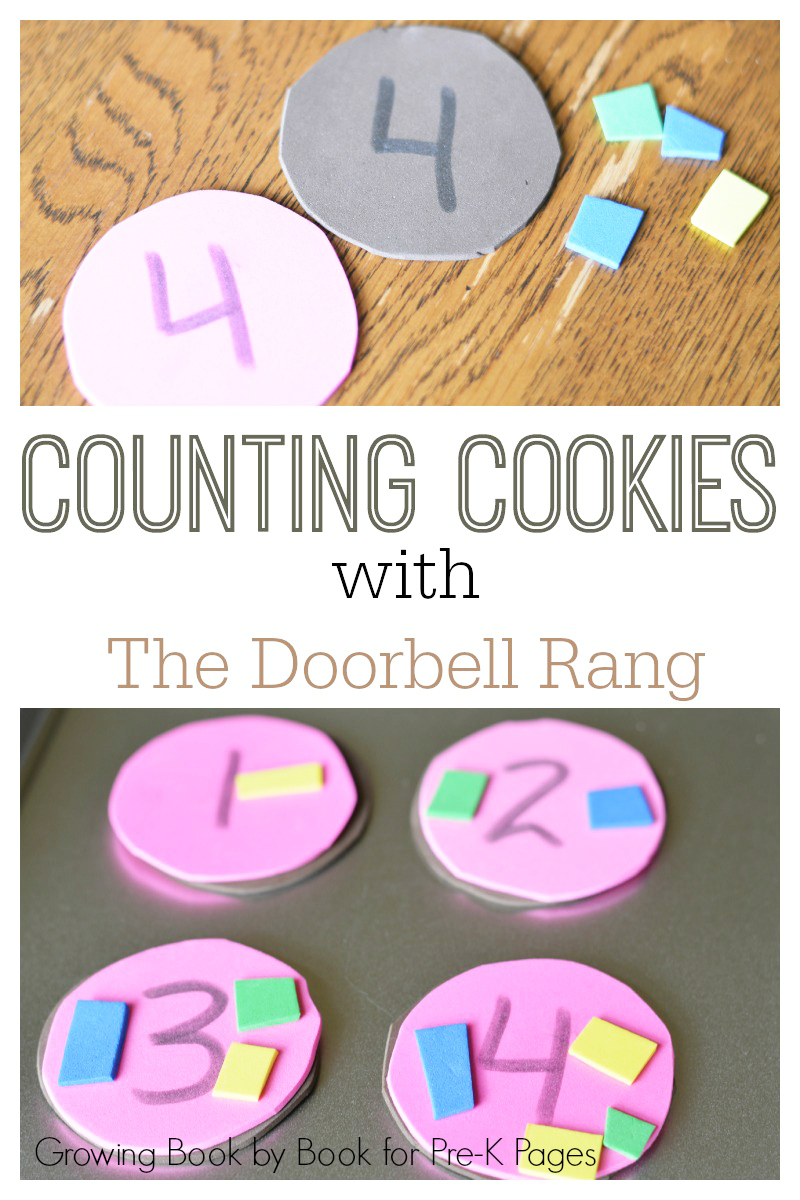 Counting Cookies Math Center for preschoolers