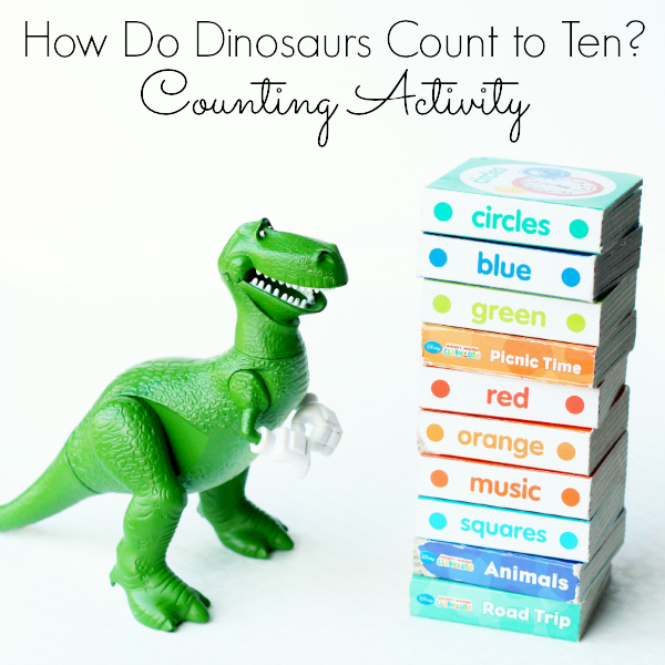Dinosaur book counting activity for preschool