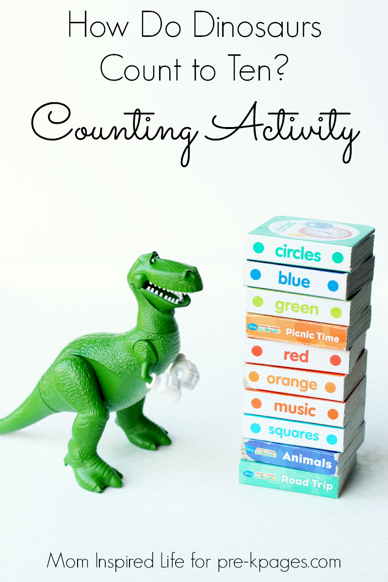 How do dinosaurs count to ten activity