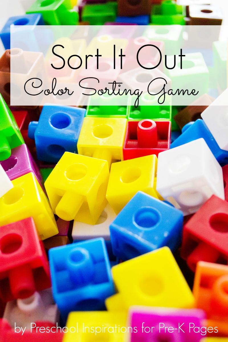Sort It Out color sort game for preschool