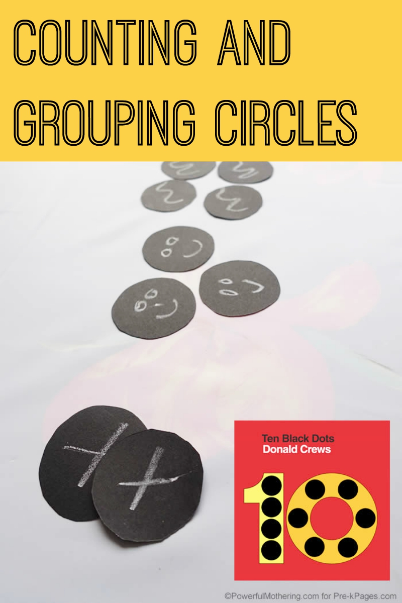 counting and grouping circles for preschool