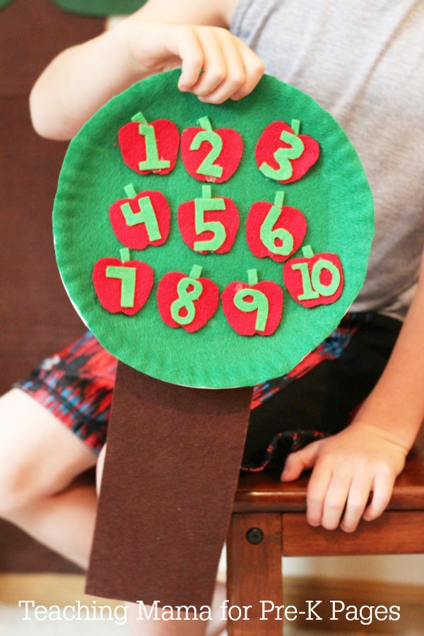 counting apple tree numbers 1 to 10