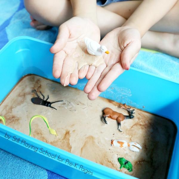 mud sensory play for preschool
