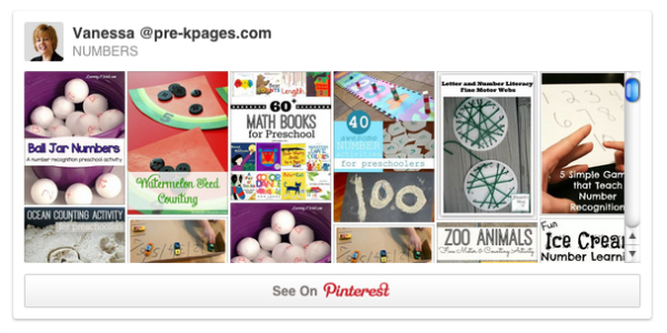 numbers pinterest board