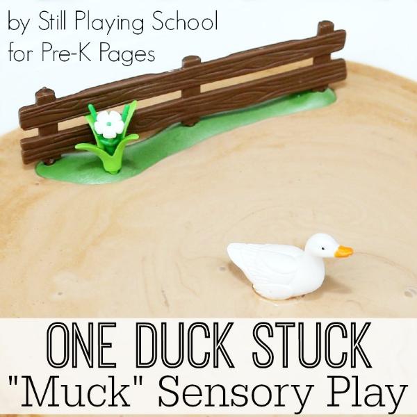 muck sensory play for preschool