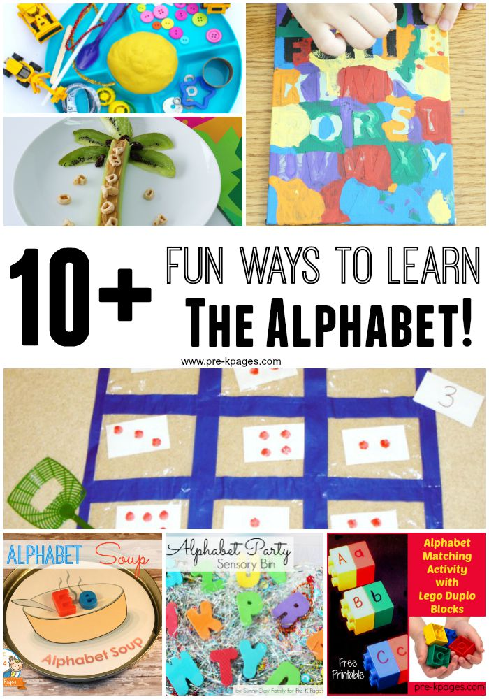 23 Unconventional (and fun!) ways to learn with alphabet ...