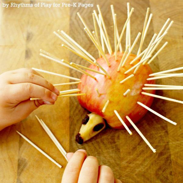 Apple Hedgehogs Fine Motor Activity
