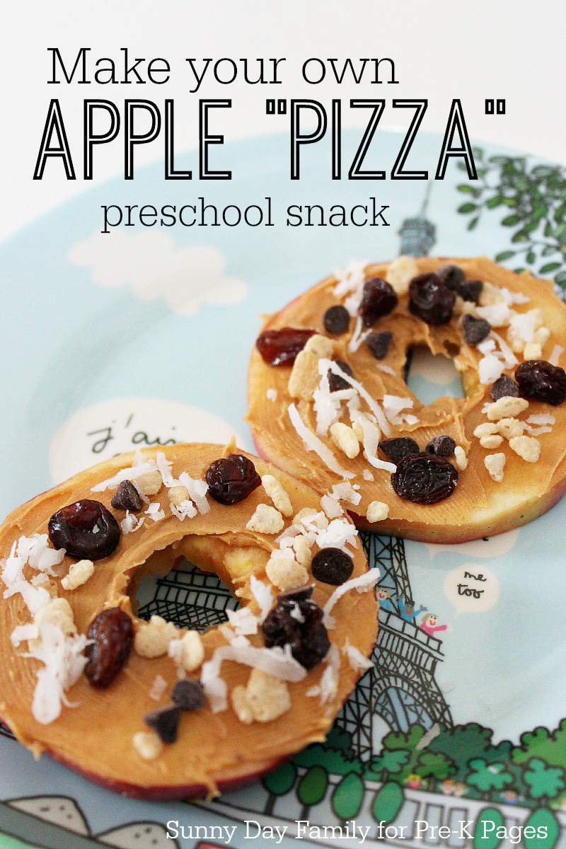 snack for preschool apple pizzas snack activity 256
