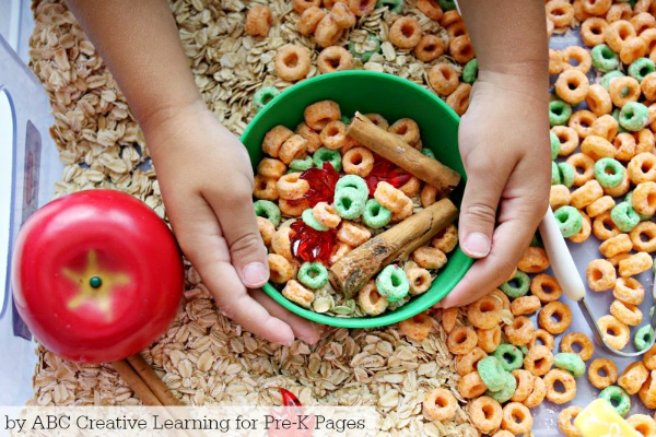 Apple Sensory Play
