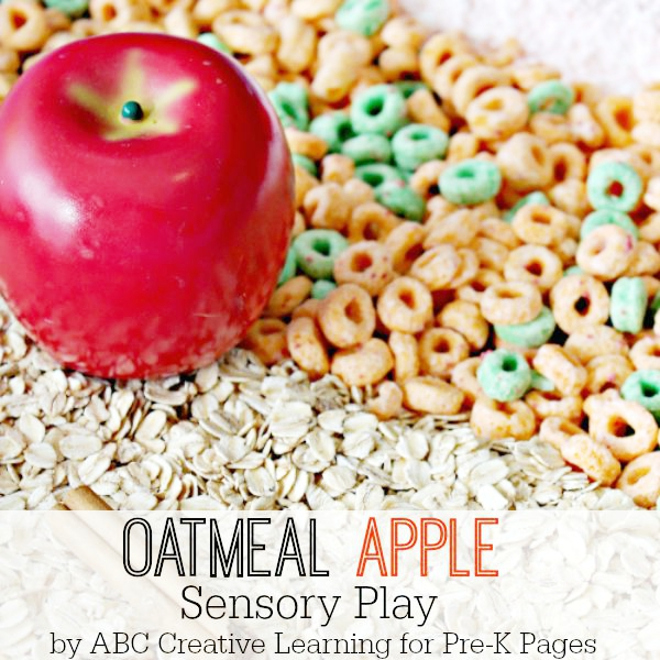 Oatmeal Apple Sensory Bin
