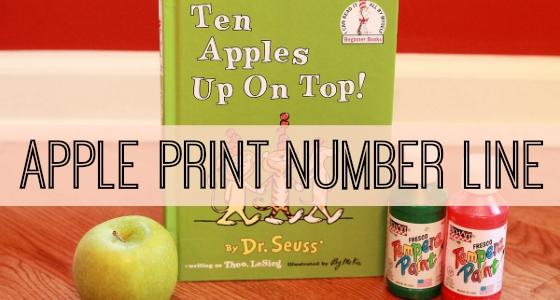 Apple Print Number Line