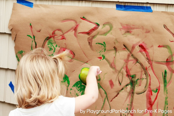 Ten Apples Up On Top Apple Prints  for preschool