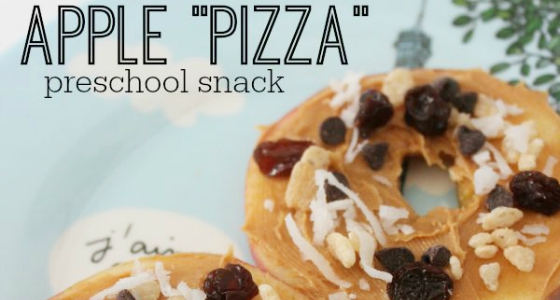 apple pizza preschool snack