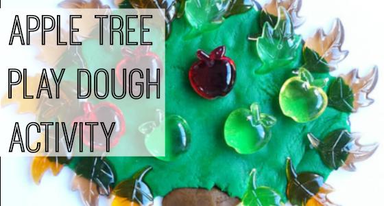 Apple Tree Play Dough Activity