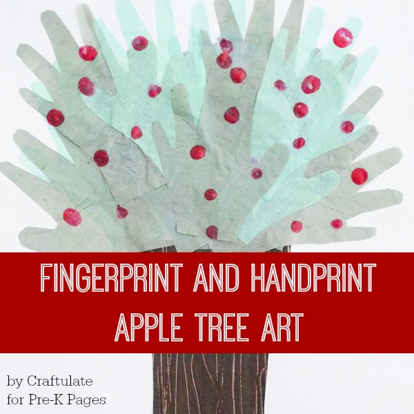 handprint apple tree art