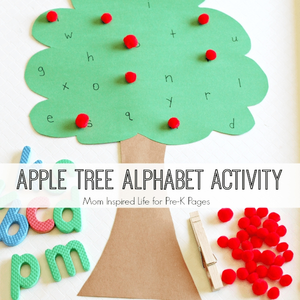 apple tree alphabet activity preschool