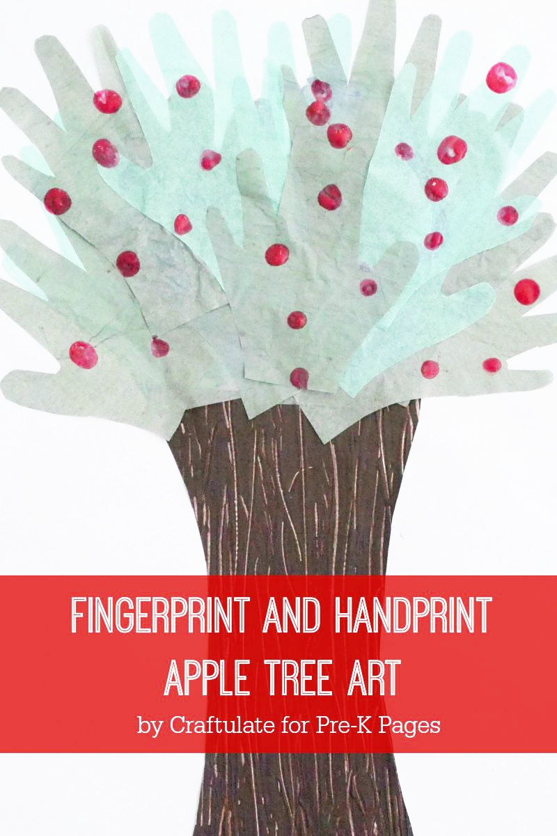apple tree art for preschool