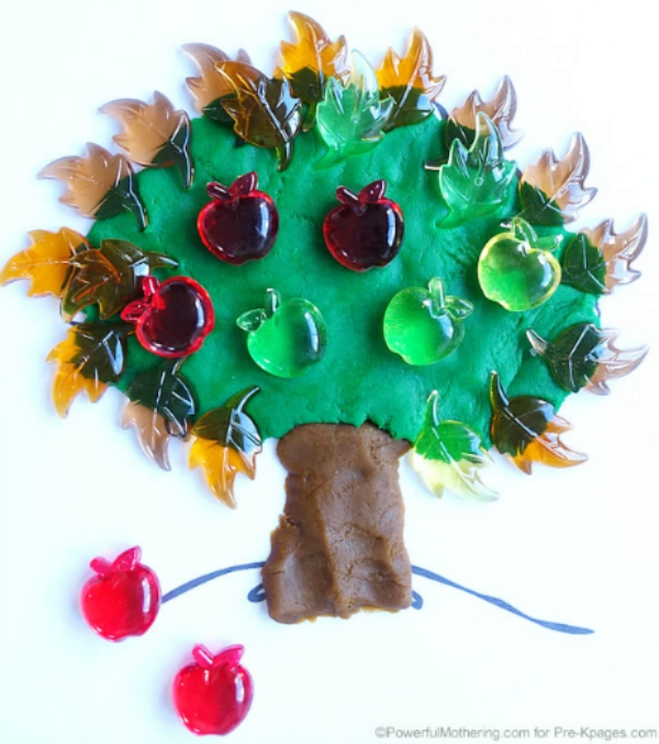 apple tree play dough