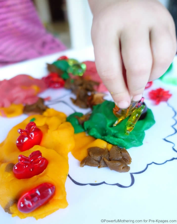 fine motor and sensory apple tree