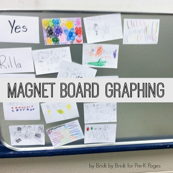 magnet board graph for preschool