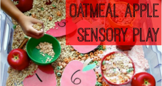 oatmeal apple sensory play