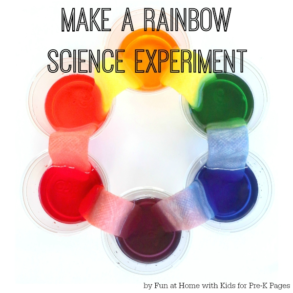 science book for kids make a rainbow