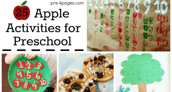 25 Apple Theme Activities for Preschool